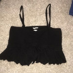 Wilfred ruffles crop tank top